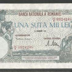 ROMANIA 100000 100.000 LEI 20 DECEMBRIE 1946 [03] XF+++ - Bancnota romaneasca