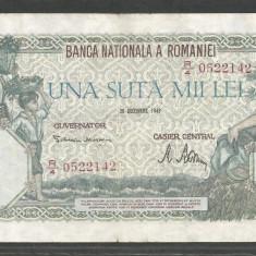ROMANIA 100000 100.000 LEI 20 DECEMBRIE 1946 [12] XF+ - Bancnota romaneasca