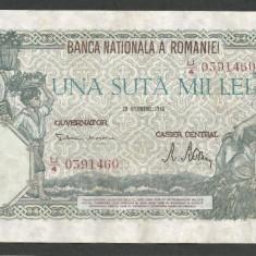 ROMANIA 100000 100.000 LEI 20 DECEMBRIE 1946 [8] XF++ - Bancnota romaneasca