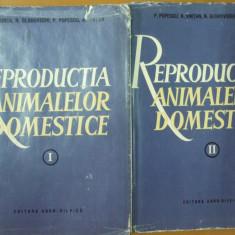 Reproductia animalelor domestice 2 volume Bucuresti 1964 N. Lunca P. Popescu - Carte Zoologie