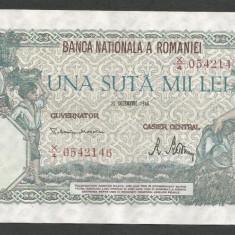 ROMANIA 100000 100.000 LEI 20 DECEMBRIE 1946 [2] XF+++ - Bancnota romaneasca
