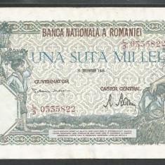 ROMANIA 100000 100.000 LEI 20 DECEMBRIE 1946 [4] XF++ - Bancnota romaneasca