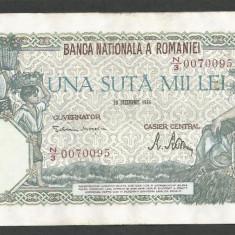 ROMANIA 100000 100.000 LEI 20 DECEMBRIE 1946 [5] XF++ - Bancnota romaneasca
