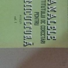 Analele institutului de cercetari pentru pomicultura vol1 - Carti Agronomie