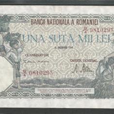 ROMANIA 100000 100.000 LEI 20 DECEMBRIE 1946 [7] XF++ - Bancnota romaneasca