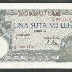 ROMANIA 100000 100.000 LEI 20 DECEMBRIE 1946 [01] XF+++ - Bancnota romaneasca