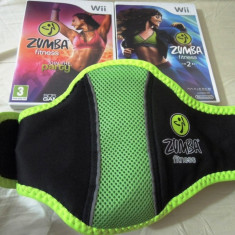Pachet Zumba Fitness + Zumba Fitness 2 + centura, pentru Wii, original, PAL - Jocuri WII Ubisoft, Sporturi, 3+, Multiplayer