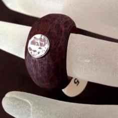 Inel cu RASHINA si Swarovski- marimea 5, 15 mm +CUTIE CADOU - Inel Swarovski