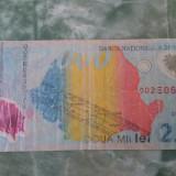 BACNOTA 2000 LEI CU ECLIPSA DE SOARE DIN ANUL 1999, SERIE 002E - Bancnota romaneasca