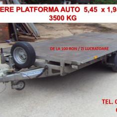 Inchiriere platforma auto 5.5 m - 3500 kg - Utilitare auto