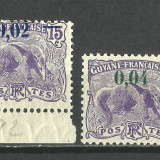 VARIETATE SUPRATIPAR --GUYANA FRANCEZA--1922 MNH, Nestampilat