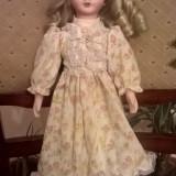 Papusa cu cap portelan vintage 40cm - Papusa de colectie