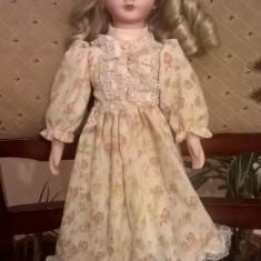 papusa cu cap portelan vintage 40cm