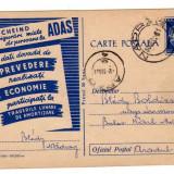 CARTE POSTALA  MARCA FIXA 30 BANI  1961 CD385-195000 EX  PROPAGANDA  ADAS