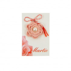 Martisor Brosa Crosetat Manual Shugar Flower - Martisor handmade
