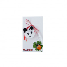 Martisor Brosa Crosetat Manual Urs Panda - Martisor handmade