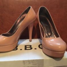 Pantofi cu toc nude - Pantof dama, Culoare: Corai, Marime: 36
