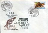 Romania - plic oc.1989 - Ocrotirea Naturii Suceava - Arici,vidra,cocos salbatic