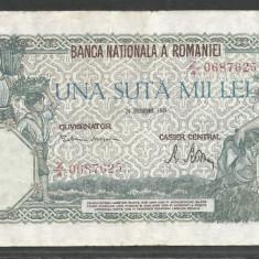 ROMANIA 100000 100.000 LEI 20 DECEMBRIE 1946 [21] VF+ - Bancnota romaneasca