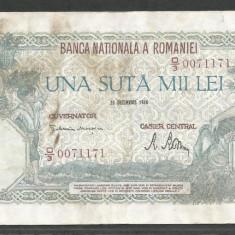 ROMANIA 100000 100.000 LEI 20 DECEMBRIE 1946 [39] - Bancnota romaneasca