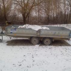 Urgent remorca platformā de transport cu rampā si obloane - Utilitare auto