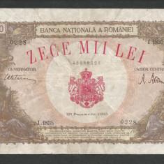 ROMANIA 10000 10.000 LEI 20 DECEMBRIE 1945 [37] starea din imagine - Bancnota romaneasca