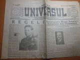 ziarul universul 9 noiembrie 1945-ziua de nastere a regelui mihai