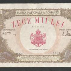 ROMANIA  10000  10.000  LEI   20  DECEMBRIE   1945  [28]   VF