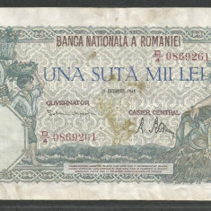 ROMANIA 100000 100.000 LEI 20 DECEMBRIE 1946 [36] F - Bancnota romaneasca