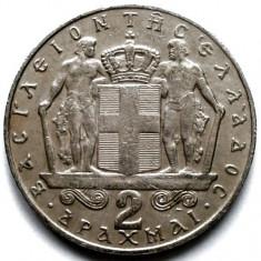 Grecia Constantine II (1964-1973) 2 Drahme 1970, Europa, Crom