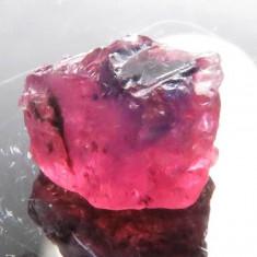 Rubin NATURAL bicolor rosu-albastru in acelasi cristal BRUT 1, 80 ct. - netratat