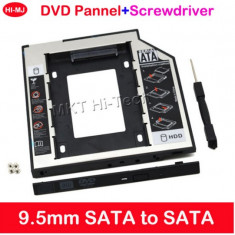 9, 5 mm SATA-SATA HDD/SSD caddy adaptor - Suport laptop