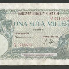 ROMANIA 100000 100.000 LEI 20 DECEMBRIE 1946 [17] XF - Bancnota romaneasca