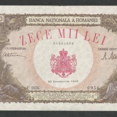 ROMANIA   10000  10.000  LEI  20  DECEMBRIE   1945   [6]   XF+