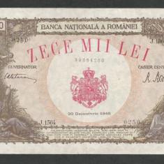 ROMANIA   10000  10.000  LEI  20  DECEMBRIE   1945  [10]   XF+