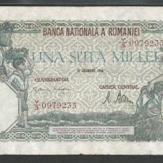 ROMANIA 100000 100.000 LEI 20 DECEMBRIE 1946 [25] VF - Bancnota romaneasca