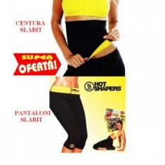 Set pantaloni hot shapers si centura, pantalon slabit hot shapers+centura-M, L, XL - Echipament Fitness