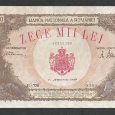 ROMANIA 10000 10.000 LEI 20 DECEMBRIE 1945 [32] F, starea din imagine - Bancnota romaneasca