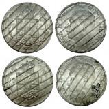 ROMANIA, 100 LEI 1936 + 100 lei 1938 DEMONETIZATA  * cod 38, Nichel