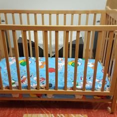 Patut din lemn Kika cu saltea Dormeo - Patut lemn pentru bebelusi, 120x60cm, Altele