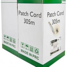 4World Cablu UTP, 4x2, cat. 5e, cablu litat, 305m, miez CU - 100%, gri - Cablu retea