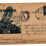 CARTE POSTALA  MARCA FIXA 30 BANI  19561 RECICLARE METALE VECHI PROPAGANDA