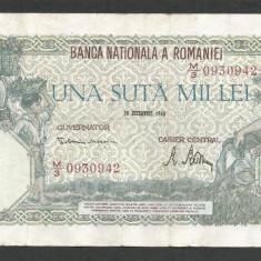 ROMANIA 100000 100.000 LEI 20 DECEMBRIE 1946 [29] VF - Bancnota romaneasca