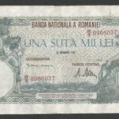 ROMANIA 100000 100.000 LEI 20 DECEMBRIE 1946 [26] VF - Bancnota romaneasca