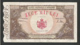 ROMANIA  10000  10.000  LEI   20  DECEMBRIE   1945  [31]  F , starea din imagine