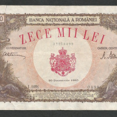 ROMANIA 10000 10.000 LEI 20 DECEMBRIE 1945 [31] F, starea din imagine - Bancnota romaneasca