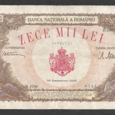 ROMANIA  10000  10.000  LEI   20  DECEMBRIE   1945  [24]   VF