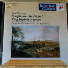 Beethoven -Sy.4, 7 - Szell - Muzica Clasica sony music, CD