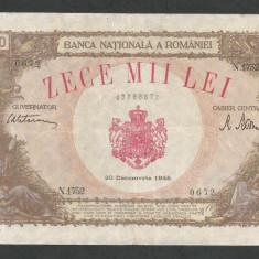 ROMANIA  10000  10.000  LEI  20  DECEMBRIE   1945  [8]  XF+