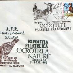 Romania - Plic oc.1989 - Ocrotirea Naturii Suceava - Nagatz, gasca cu piept rosu